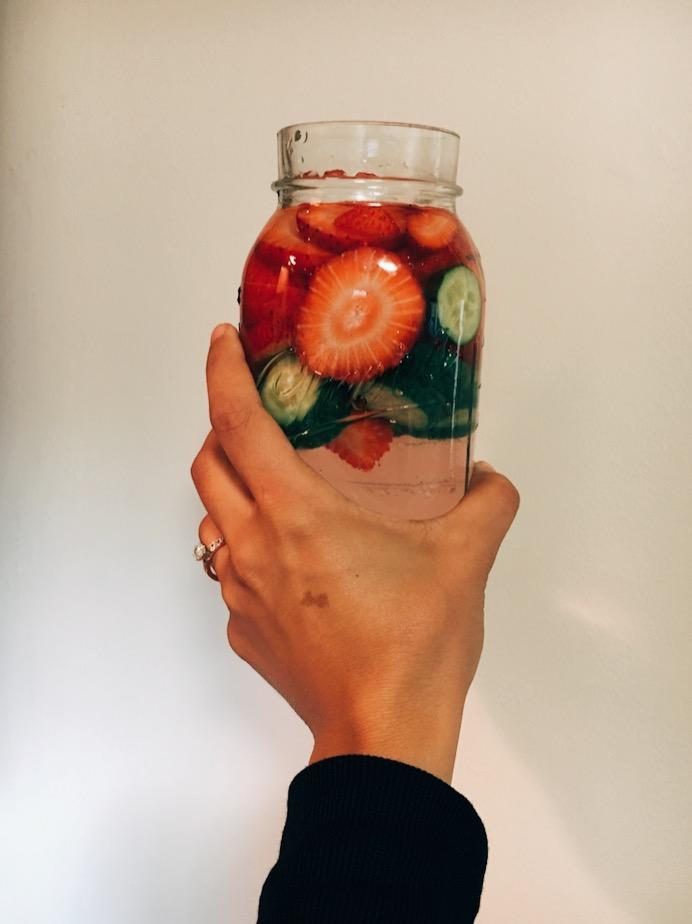 The BEST Strawberry Cucumber DetoxWater