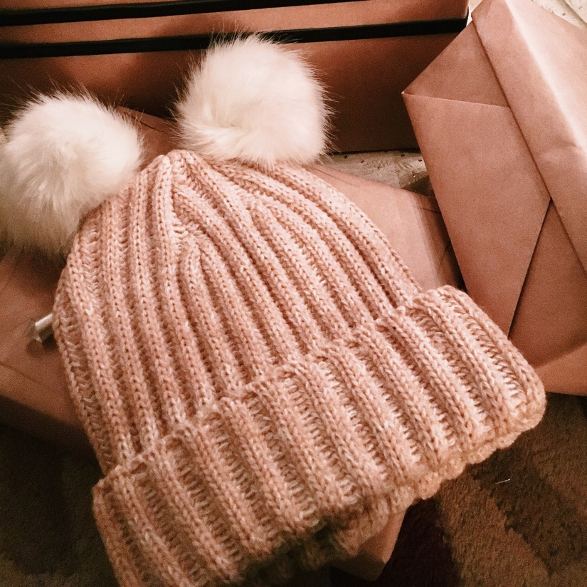 Easy Pom Pom Hat DIY